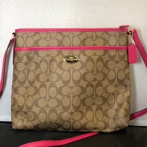 Coach Signature Crossbody Logo Large File Bag